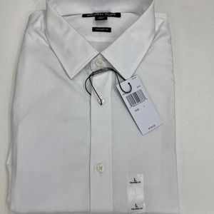 NEW MICHAEL KORS WHITE TAILORED FIT BUTTON DOWN!